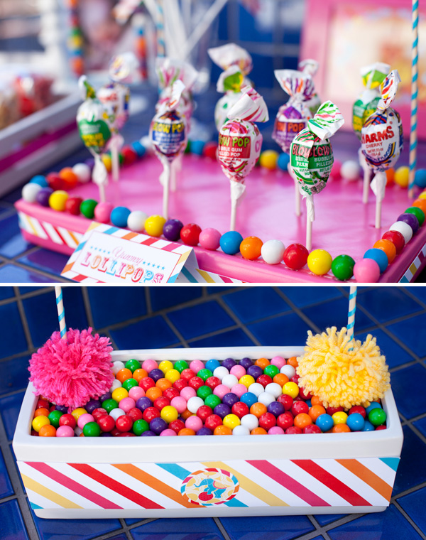 Carnival theme party inspiration diy party ideas for Another word for food decoration